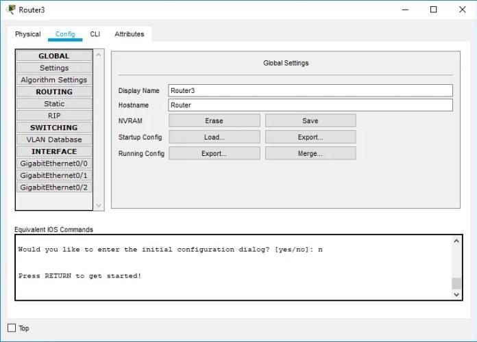 Figura 11. Interfaz GUI para configuración de equipos.
