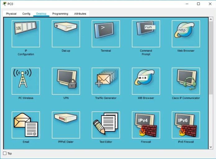 Figura 13. Interfaz de escritorio para la configuración de dispositivos finales.