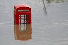 Flooded Telephone Booth