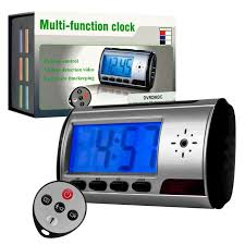 Multi Function table Clock with Hidden Camera