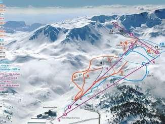 davraz kayak merkezi pist haritasi