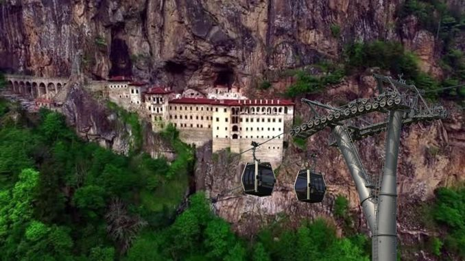 sumela manastiri teleferik projesi ihale asamasinda