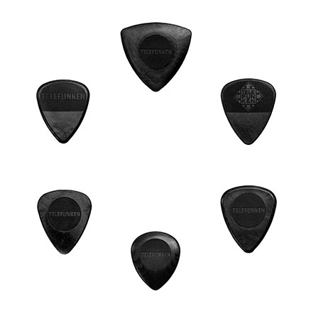 TELEFUNKEN Graphite Enriched Derlin Guitar Picks