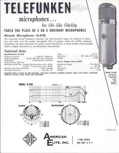 TELEFUNKEN historic catalog AE2