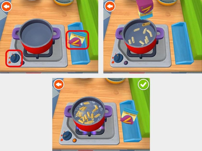 Интерфейс приложения Panda Restaurant 3 основывается на имеющихся у детей знаниях о мире.
