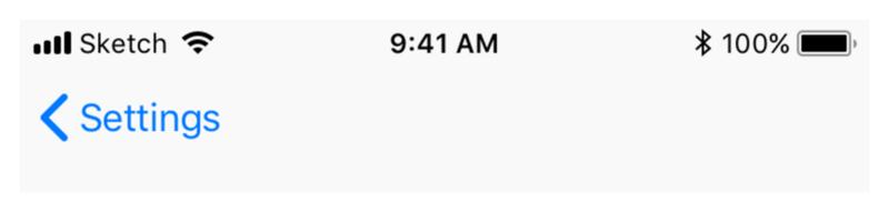 Кнопка Назад (iOS)