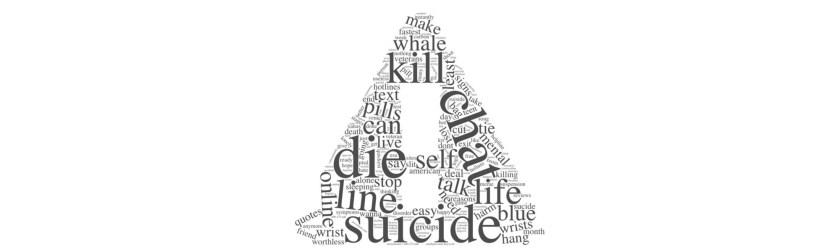 Чтобы подвести итог и визуально представить проект, я создал слово облако, состоящее из популярных суицидальных ключевых слов.