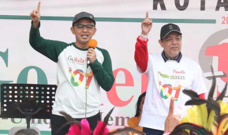 Gen Milenial Gelar Lomba Senam Untuk Raih Dukungan ke Jokowi-Maruf
