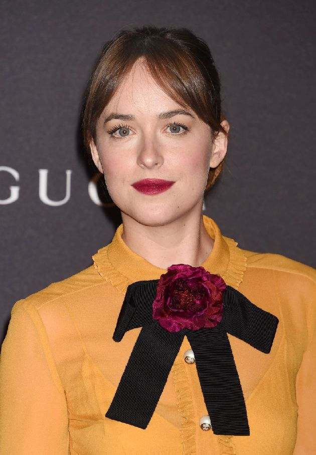 LOS ANGELES, CA - NOVEMBER 07: Actress Dakota Johnson, wearing Gucci attends LACMA 2015 Art+Film Gala Honoring James Turrell and Alejandro G Iñárritu, Presented by Gucci at LACMA on November 7, 2015 in Los Angeles, California., Image: 265514011, License: Rights-managed, Restrictions: , Model Release: no, Credit line: Profimedia, Capital pictures