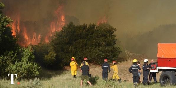 Incendio forestal en Villa Gesell