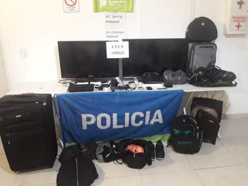El botín de los ladrones tras la media decena de robos en Cariló.