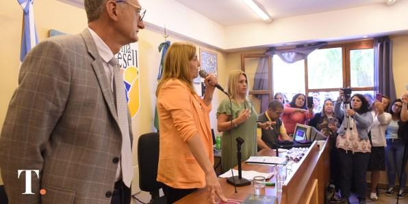 Marta Zuloaga juró como concejal y fue elegida presidente del Cuerpo (Fotos Ricardo Stinco).