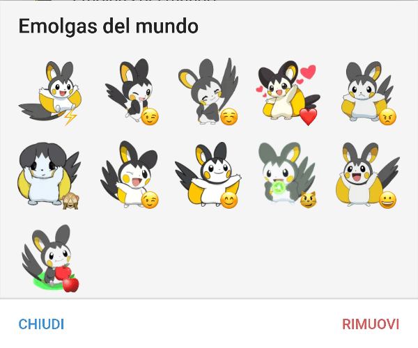 Emolga sticker pack