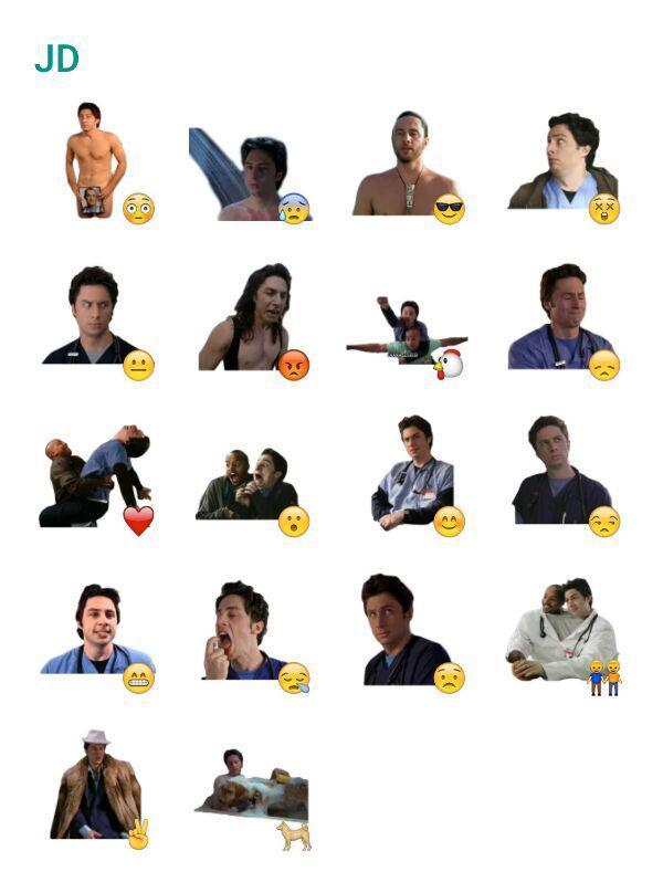 john-dorian-scrubs-sticker-pack