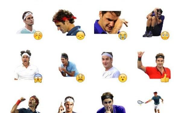 Roger Federer Sticker Pack