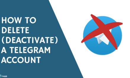 How to Delete ( Deactivate ) a Telegram Account