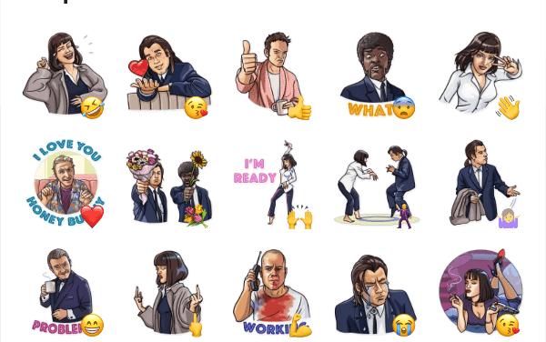 Pulp Fiction Sticker Pack