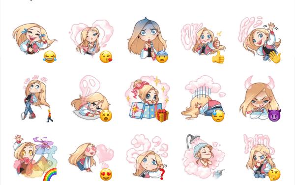Vaper Girl Sticker Pack
