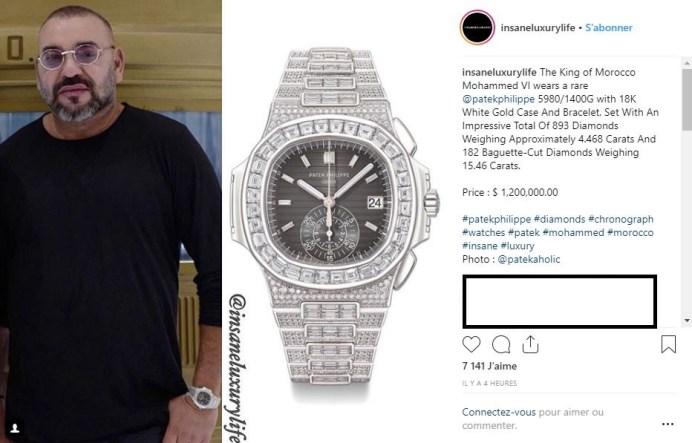 Maroc-Polémique: Mohammed VI exhibe s'offre une montre à 1,2 million de dollars (photo)