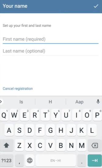 how to create a telegram account on windows phone