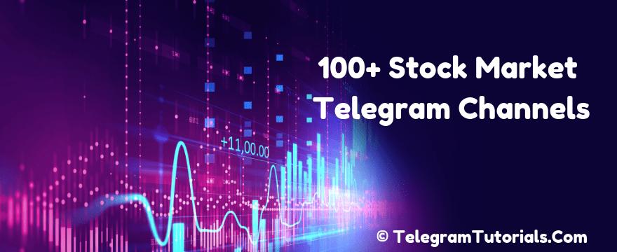 100+ Best Telegram Channels For Stock Market & Share Market