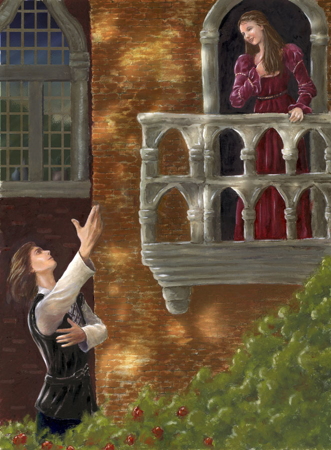 romeo and juliet balcony scene drawing ahwhy are you called romeo