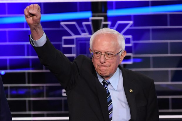 Democratic presidential hopeful U.S. Senator for Vermont Bernie Sanders arrives for the second Democratic primary debate of the 2020 presidential campaign at the Adrienne Arsht Center for the Performing Arts in Miami, June 27, 2019.