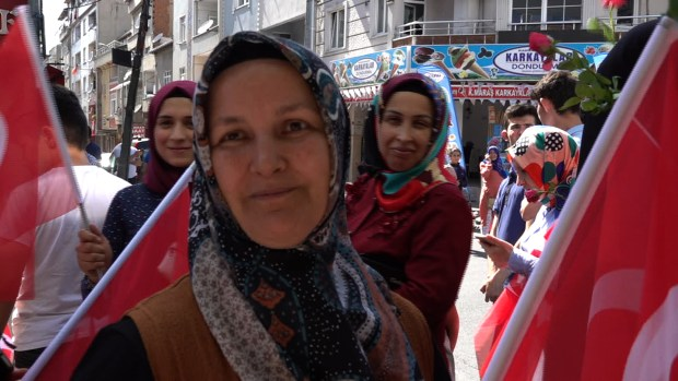 Hanife, an AKP supporter, backs the Istanbul revote saying the March vote was unfair. (VOA/D. Jones)