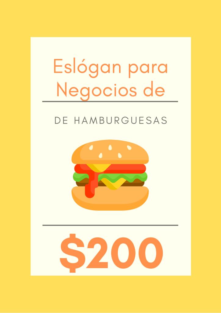 eslogan para hamburguesas