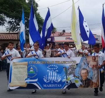 Realizan Desfile Patrio de Primaria en Estelí.