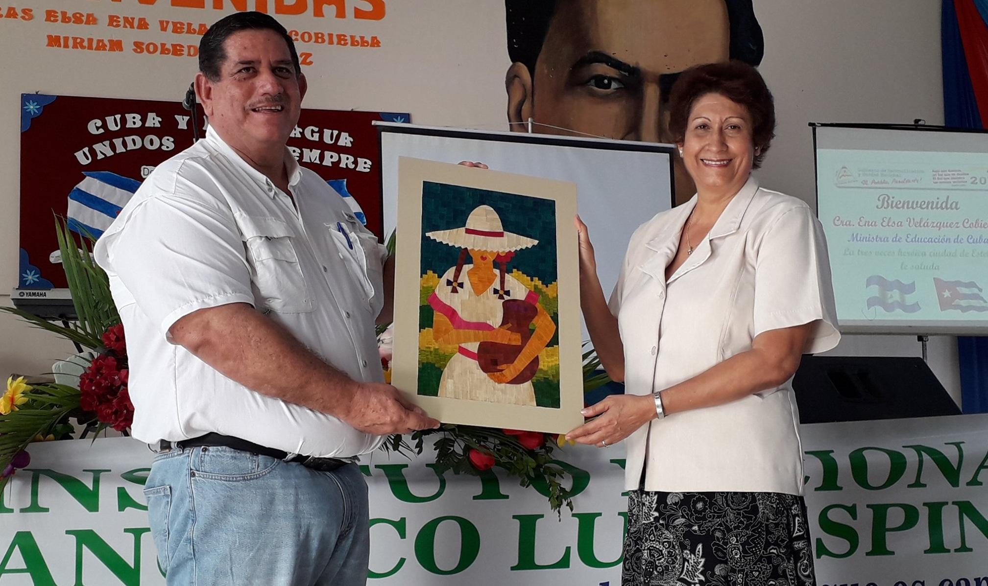 Ministra de Educación de Cuba visita estudiantes normalistas y docentes de Estelí
