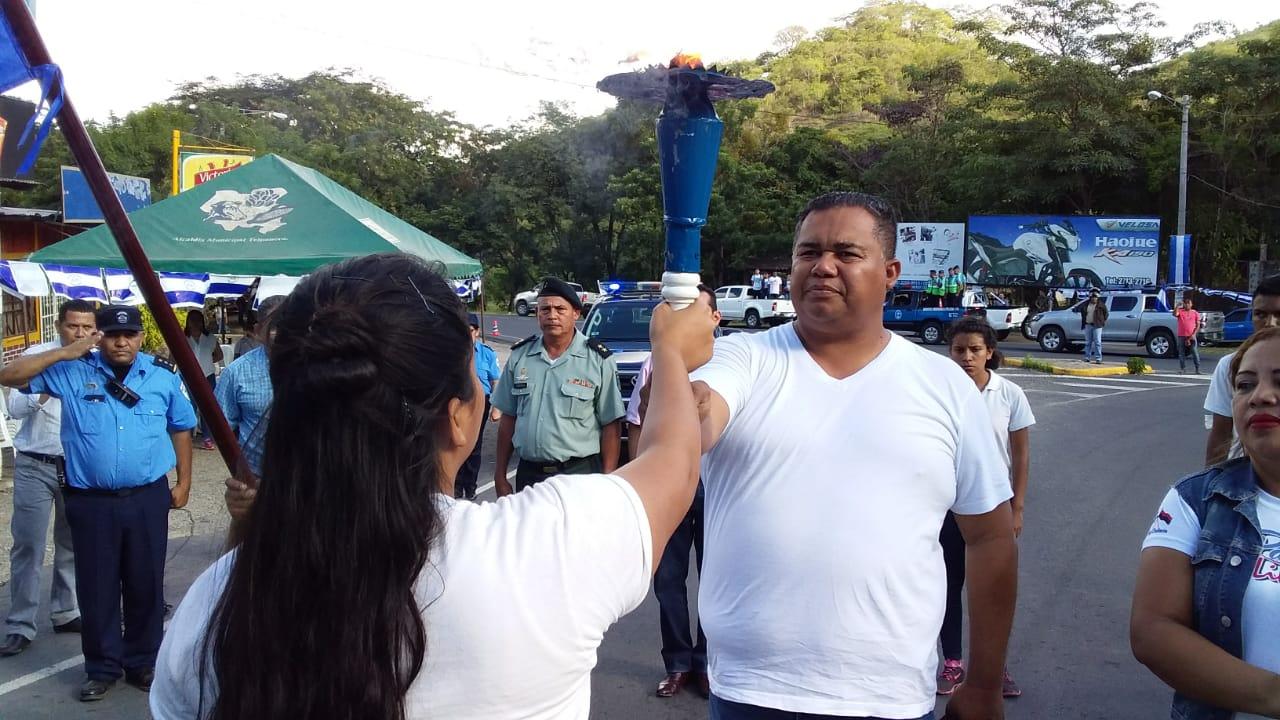 Nicaragua recibe la Antorcha de la Independencia de Centroamérica
