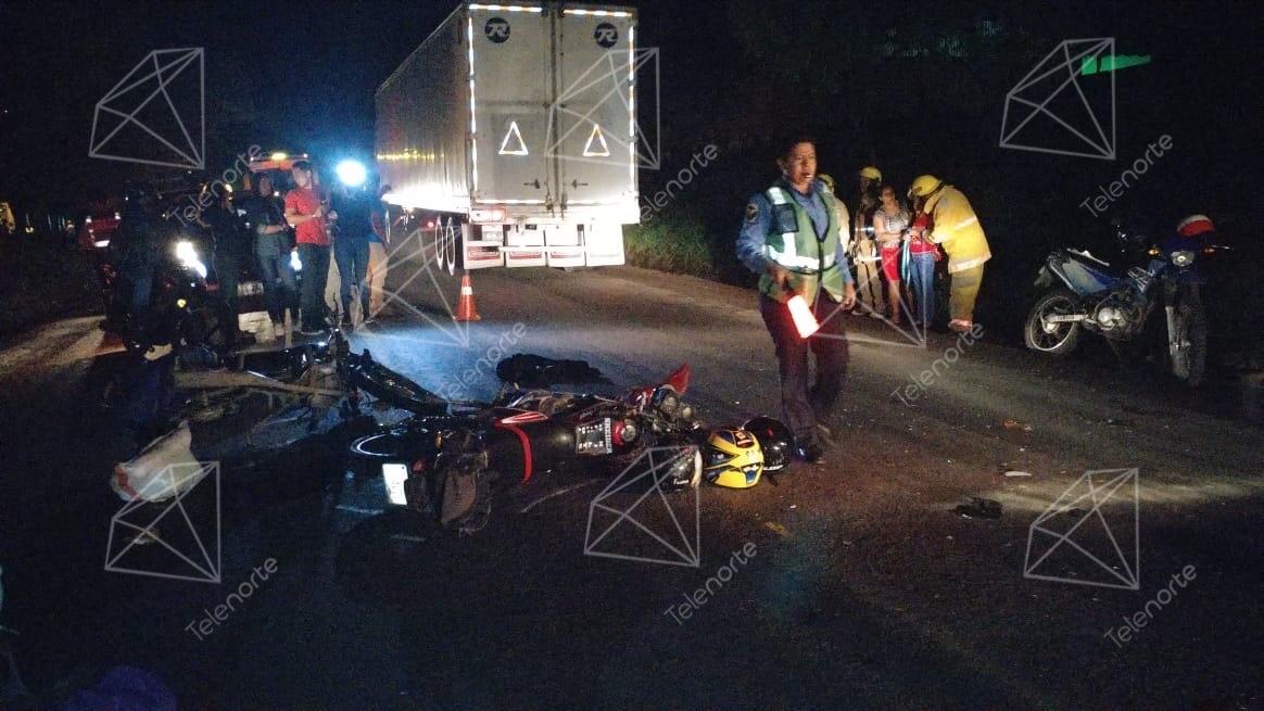 Encontronazo entre motocicletas en Estelí deja dos fallecidos.