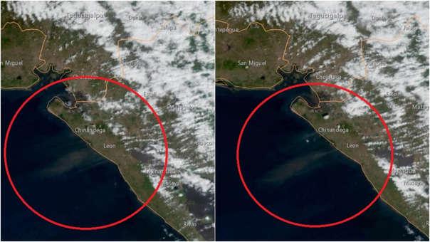 NASA capta desde el espacio gigantesca nube de polvo que envuelve a la ciudad de León