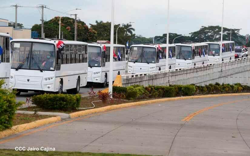 Nicaragua desde 2007 ha adquirido 1.100 autobuses de fabricación rusa