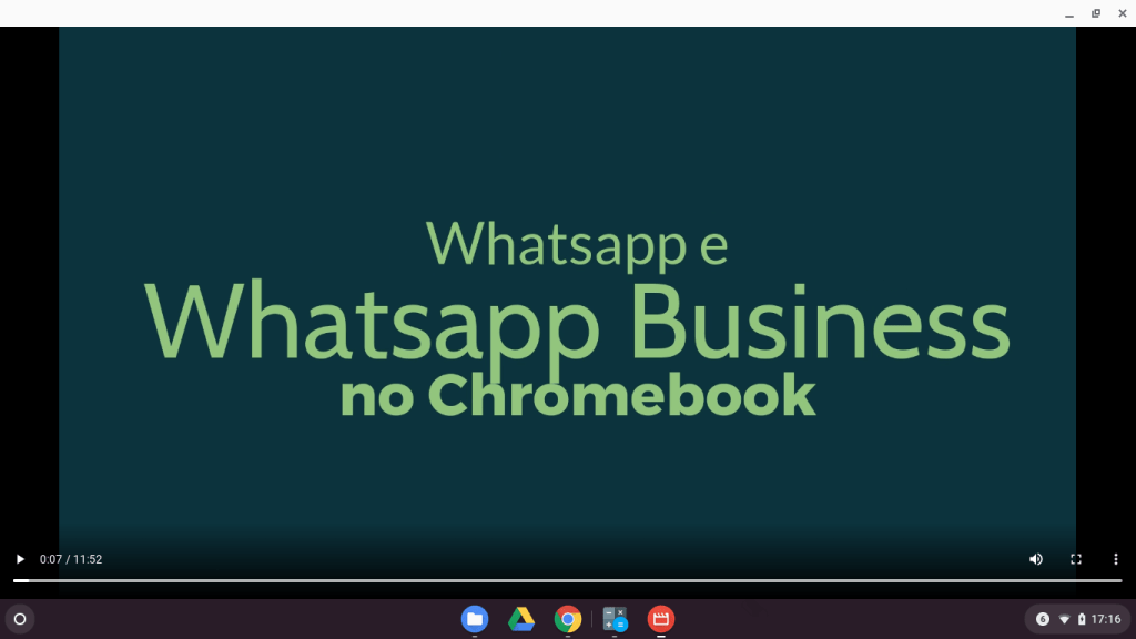 Whatsapp e Whatsapp Business no Chromebook