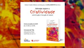 """Convite de lançamento do livro """"Estudos sobre a Criatividade"""""""