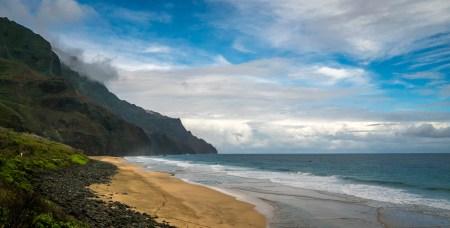 Beach View - Kalalau Beach Trail, Kauai