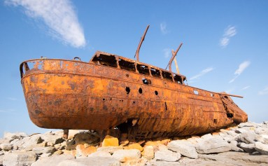 Shipwreck at Inisheer Island, Ireland