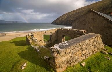 Keem Beach Rainbow - Achill Island, Ireland