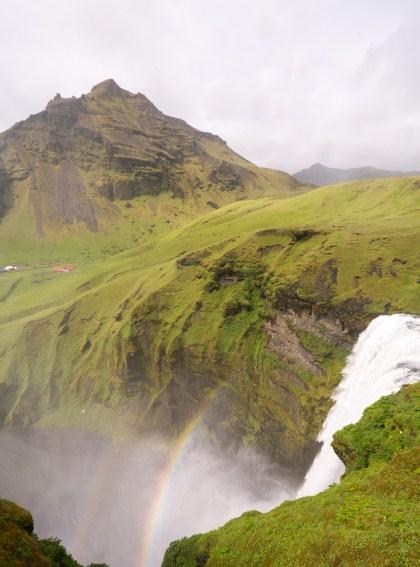 Rainbow at Skogafoss, Iceland