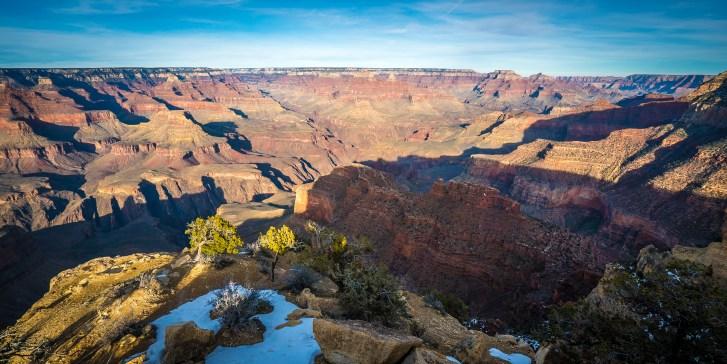 Snow at the Rim - Grand Canyon , Arizona