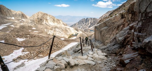 Descending Down the East Side of Mt. Whitney