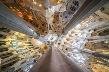 Basilica of the Sagrada Familia Abstract