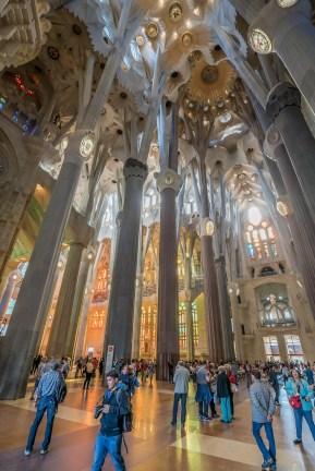 Basilica of the Sagrada Familia interior
