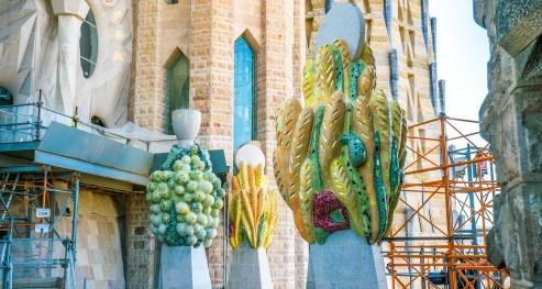 Basilica of the Sagrada Familia Tower Detail
