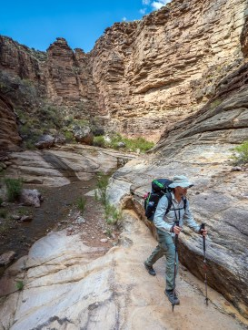 Greg Hiking in Slot Canyon