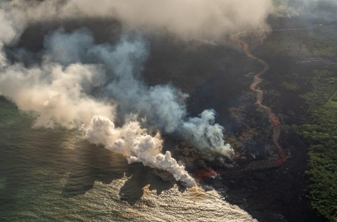 Kilauea Lava Meets the Sea