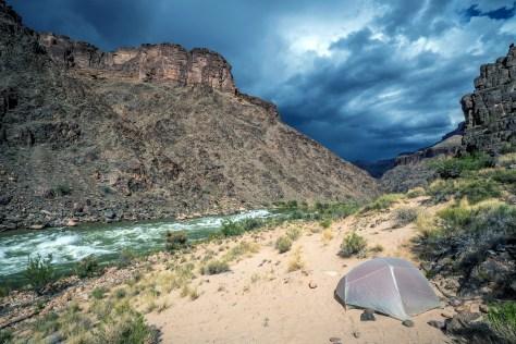 colorado campsite dark clouds