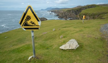 Achill Island Warning Sign